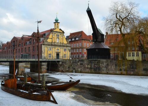 Am Stint in Lüneburg(Diese und andere Fotos als Postkarten in der Pension zu erhalten)