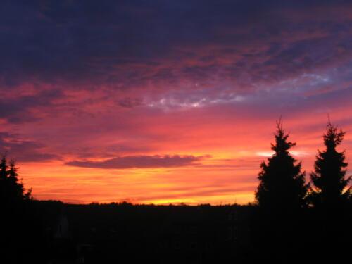 Sonnenuntergang vom Garten aus